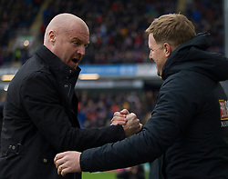Burnley manager Sean Dyche and Bournemouth manager Eddie Howe (R) before the match - Mandatory by-line: Jack Phillips/JMP - 22/02/2020 - FOOTBALL - Turf Moor - Burnley, England - Burnley v Bournemouth - English Premier League