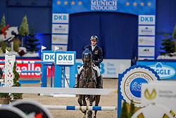 WULSCHNER Holger (GER), BSC Skipper<br /> München - Munich Indoors 2019<br /> CSI4* - Preis von Bayerns Pferde Zucht+Sport (Mittlere Tour)<br /> Springprüfung nach Fehlern und Zeit, international<br /> Höhe: 1.45m<br /> 22. November 2019<br /> © www.sportfotos-lafrentz.de/Stefan Lafrentz