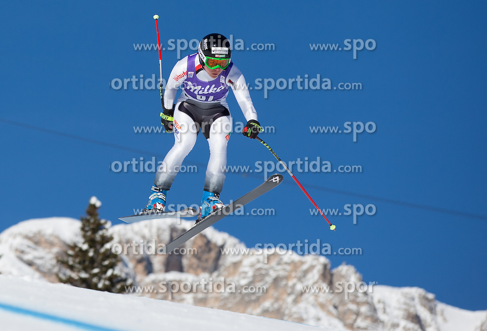 19.01.2013, Olympia delle Tofane, Cortina d Ampezzo, ITA, FIS Weltcup Ski Alpin, Abfahrt, Damen, im Bild Edit Miklos (HUN) // Edit Miklos of Hungary in action during the ladies Downhill of the FIS Ski Alpine World Cup at the Olympia delle Tofane course, Cortina d Ampezzo, Italy on 2013/01/19. EXPA Pictures © 2013, PhotoCredit: EXPA/ Johann Groder