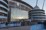 The Crowd awaits the players before the Premier League match between Manchester City and Newcastle United at the Etihad Stadium, Manchester, England on 20 January 2018. Photo by George Franks.