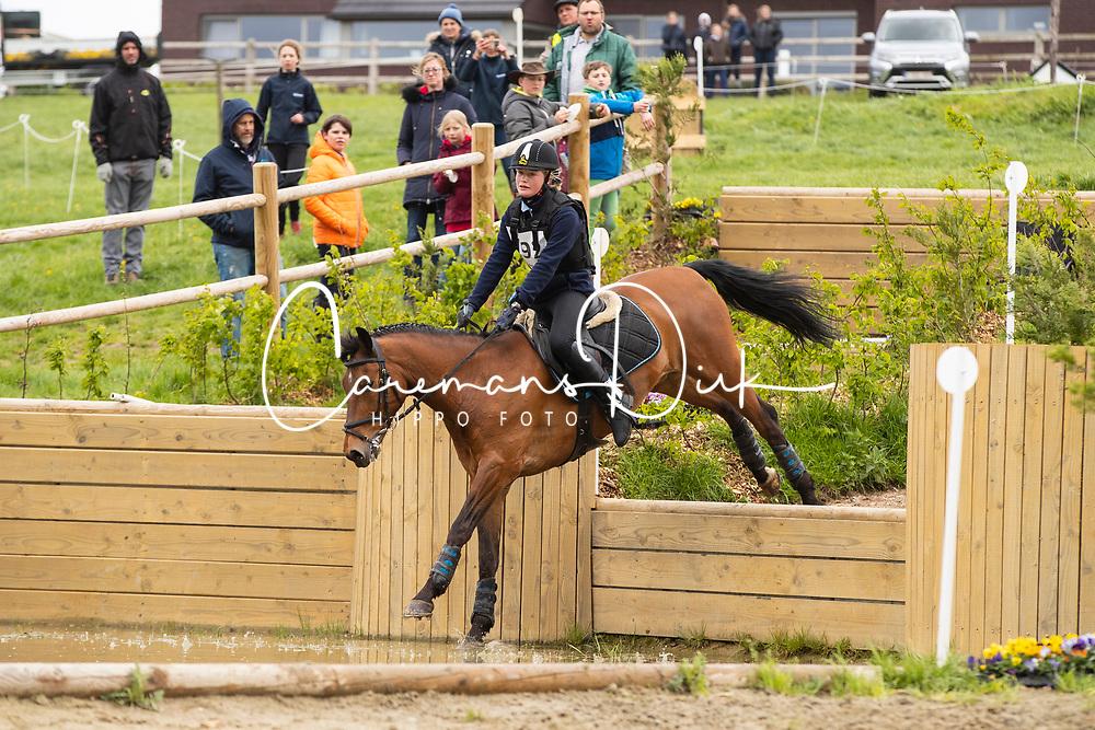 Kenis Stien, BEL, Bovenheigraaf's Carlo<br /> Nationale finale AVEVE Eventing Cup voor Pony's - Maarkedal 2019<br /> © Hippo Foto - Dirk Caremans<br /> 27/04/2019