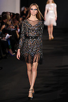Nimue Smit walks down runway for F2012 Prabal Gurung's collection in Mercedes Benz fashion week in New York on Feb 10, 2012 NYC