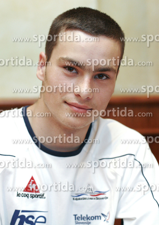 Blaz Oven at press conference of Kayak and Canoe Federation of Slovenia before European Championships Tacen 2005, on June 17, 2005, Ljubljana, Slovenia. (Photo by Vid Ponikvar / Sportida)
