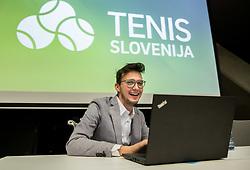 Lovro Presicek during General Assembly of Slovenian Tennis Federation, on December 12, 2018 in Kristalna palaca, Ljubljana, Slovenia. Photo by Vid Ponikvar / Sportida
