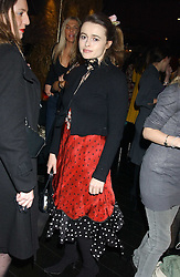 Actress HELENA BONHAM-CARTER at a preview of Lulu Guinness's new Handbag Collection ' Couture' held at Aviva, Baglioni Hotel, 60 Hyde Park Gate, London SW7 on 15th February 2006.<br />