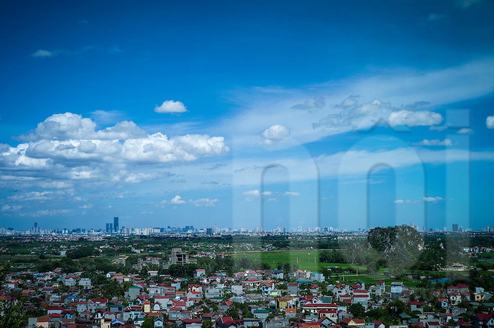 Countryside surrounding Thay pagoda, Quoc Oai district, Hanoi, Vietnam, Southeast Asia