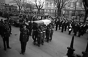 The remains of Roger Casement, Irish Patriot, were removed from the Military Church, Arbour Hill, where they lay in state for 4 days, to the Pro-Cathedral..18.02.1965