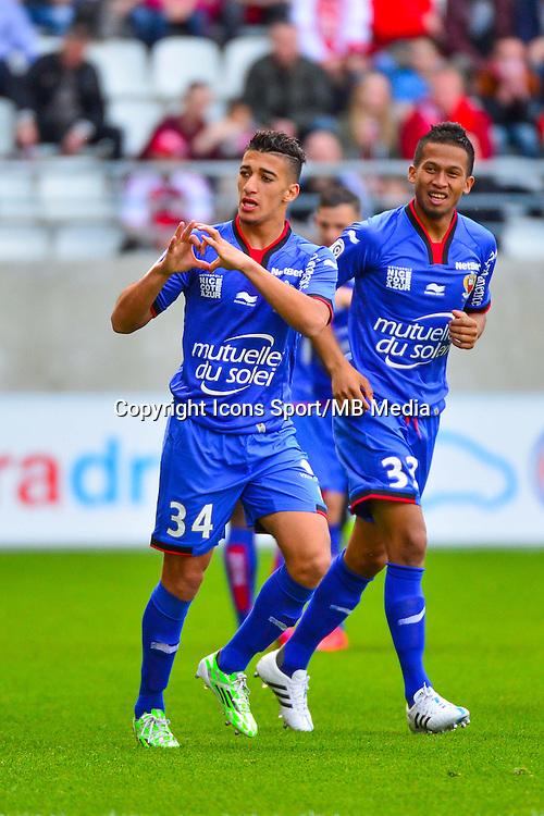 Joie Mohamed Said BENRAHMA  - 12.04.2015 - Reims / Nice - 32eme journee de Ligue 1 <br />Photo : Dave Winter / Icon Sport