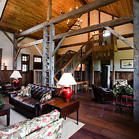 Main Lodge Interiors by Debby Hall of Hall & Co. Interior Design @ Bettys Creek, Sylva, NC