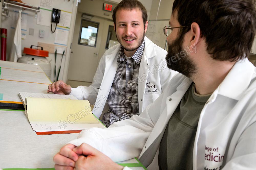 Dr. Neeraj Vij lab.  Central Michigan University photos by Steve Jessmore