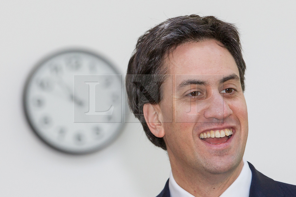 © Licensed to London News Pictures . 02/11/2012 . Manchester , UK . The leader of the Labour Party , ED MILIBAND , at the National Cycling Centre in Manchester , today (Friday 2nd November 2012) . Mr Miliband joins Lucy Powell who is standing for the constituency of Manchester Central in the city's upcoming by-election . Photo credit : Joel Goodman/LNP