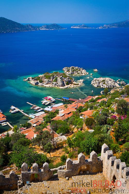 Kaleköy. Antalya province. Mediterranean coast. Turkey.