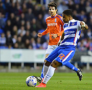 Reading's Garath McCleary shoots at goal during the Sky Bet Championship match between Reading and Birmingham City at the Madejski Stadium, Reading, England on 22 April 2015. Photo by Mark Davies.