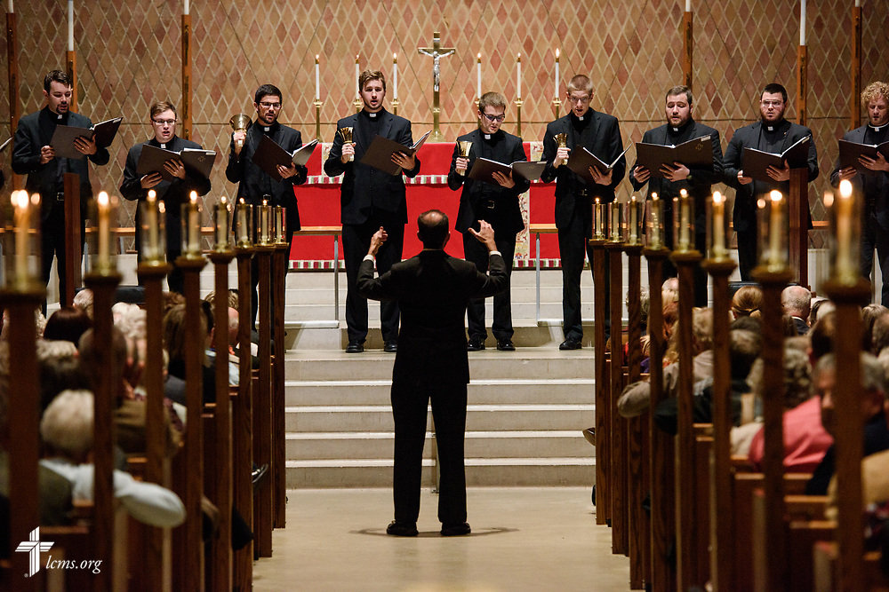 The handbell choir performs during the 500th Anniversary of the Reformation service on Tuesday, Oct. 31, 2017, at Concordia Theological Seminary, Fort Wayne, Ind. LCMS Communications/Erik M. Lunsford