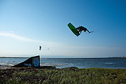 Outerbanks, NC - Rick Jensen kiteboarding at the Triple-S 2011