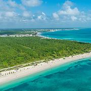 Aerial view of the Riviera Maya near Puerto Morelos