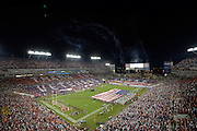General view of Raymond James Stadiumduring Monday Night Football NFL game between Tampa Bay Buccaneers and Miami Dolphins on Nov. 11, 2013 in Tampa, Florida. <br /> <br /> &copy;2013 Scott A. Miller