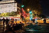 Night-time occupation la Nuit Extinction Rebellion