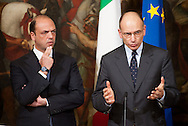 2013/05/03 Roma,  giuramento dei viceministri e dei sottosegretari. Nella foto ..Rome, oath of deputy ministers and undersecretaries. In the picture  - © PIERPAOLO SCAVUZZO