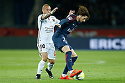 Paris Saint Germain's French midfielder Adrien Rabiot during the French Championship Ligue 1 football match between Paris Saint-Germain and OGC Nice on October 27, 2017 at the Parc des Princes stadium in Paris, France - Photo Benjamin CREMEL / ProSportsImages / DPPI