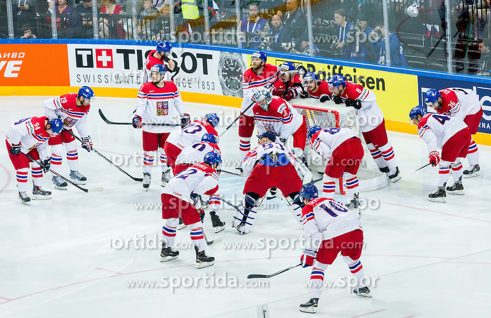 Team of Czech Republic prior to the Ice Hockey match between USA and Czech Republic at Third place game of 2015 IIHF World Championship, on May 17, 2015 in O2 Arena, Prague, Czech Republic. Photo by Vid Ponikvar / Sportida
