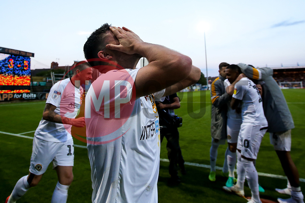 Padraig Amond of Newport County celebrates after winning through to the Sky Bet League Two Playoff Final - Mandatory by-line: Robbie Stephenson/JMP - 12/05/2019 - FOOTBALL - One Call Stadium - Mansfield, England - Mansfield Town v Newport County - Sky Bet League Two Play-Off Semi-Final 2nd Leg