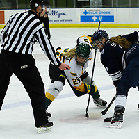 1st year forward Ireland South (25) of the Regina Cougars in action during the Women's Hockey home game on October 14 at Co-operators arena. Credit: Arthur Ward/Arthur Images
