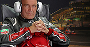 Wolfgang Ullrich, the former boss of Audi Sports, peers into the night at there 24 Hours of LeMans.
