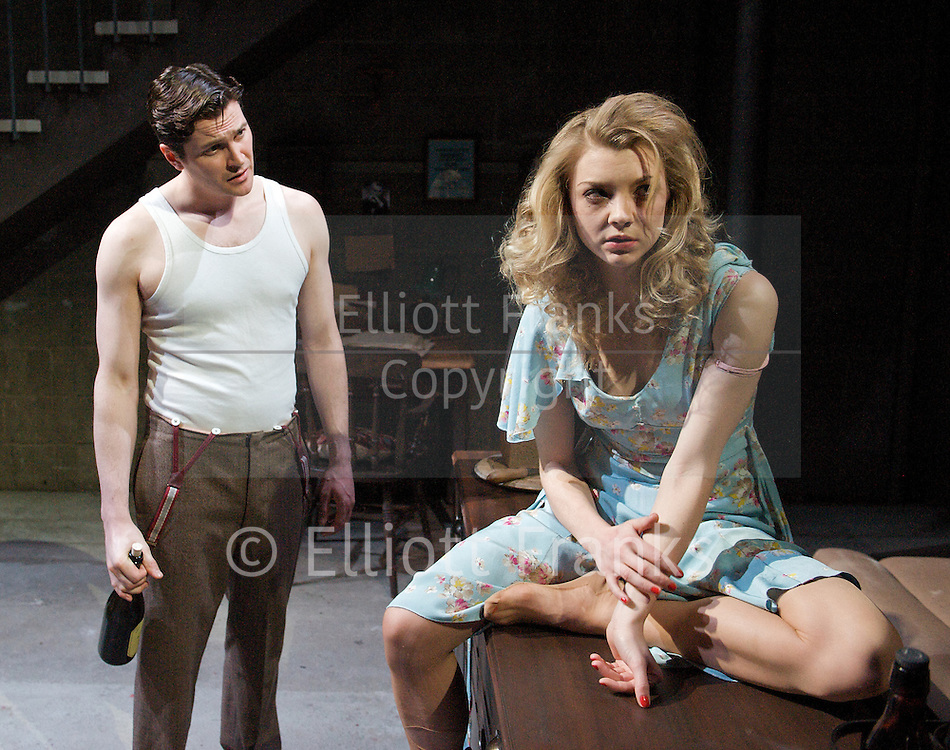 After Miss Julie<br /> at The Young Vic, London, Great Britain <br /> 20th March 2012 <br /> press photocall<br /> <br /> directed by Natalie Abrahami<br /> <br /> Kieran Bew (as John)<br /> Natalie Dormer (as Julie)<br /> Polly Frame (as Christine)<br /> <br /> Photograph by Elliott Franks