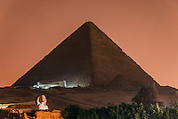 The Great Pyramid and Sphinx seen on the magical night of 21.12.2102.