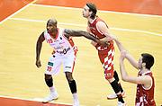 Jawad Williams Michele Antonutti<br /> Grissin Bon Pallacanestro Reggio Emilia - The Flexx Pistoia Basket<br /> Lega Basket Serie A 2016/2017<br /> Reggio Emilia, 30/04/2017<br /> Foto A.Giberti / Ciamillo - Castoria