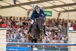 MUFF Werner (SUI), Jolie vh Molenhof<br /> Münster - Turnier der Sieger 2019<br /> Preis der SPARKASSE MÜNSTERLAND OST<br /> CSI4* - Int. Jumping competition with one jump-off (1.50 m) <br /> Finale Mittlere Tour<br /> 04. August 2019<br /> © www.sportfotos-lafrentz.de/Stefan Lafrentz