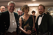 THE EARL OF KINNOUL; IONA DUCHESS OF ARGYLL; JOHN SHIELDS, The Royal Caledonian Ball 2017, Grosvenor House, 29 April 2017