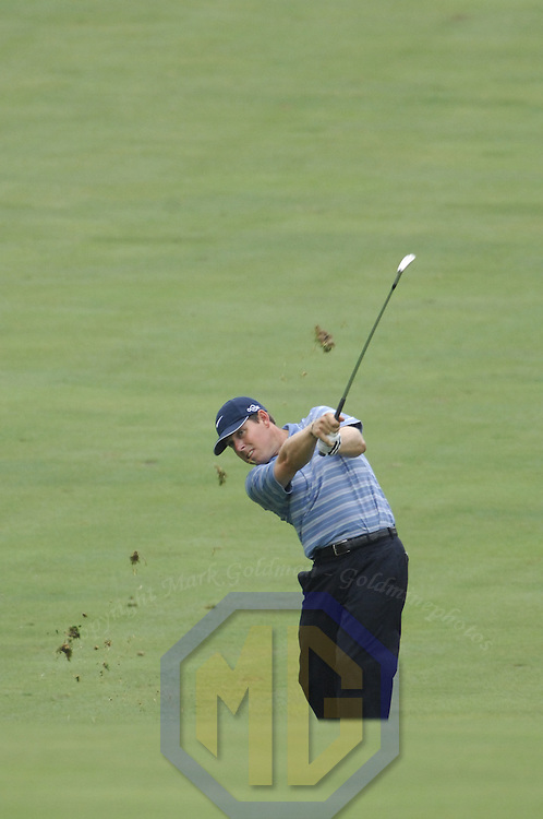 05 July 2007:  Justin Leonard in the first round of the inaugural AT&T National PGA event at Congressional Country Club in Bethesda, Md. The proceeds of the golf tournament will benefit the Tiger Woods Foundation and local charities.   ****For Editorial Use Only