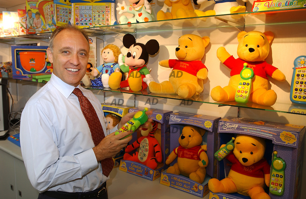 Mr. Clementoni, one of the major toys manufacturing in his showroom...China is the biggest exporter of toys in the world and the South China province of Guangdong as China's leading toy manufacturing base. According to export statistics, companies in China now produce billion of dollars of toys a year, more than half of which are re-exported through Hong Kong.
