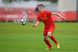 KIRKBY, ENGLAND - Saturday, September 24, 2016: Liverpool's captain Conor Masterson in action against Everton during the Under-18 FA Premier League match at the Kirkby Academy. (Pic by David Rawcliffe/Propaganda)