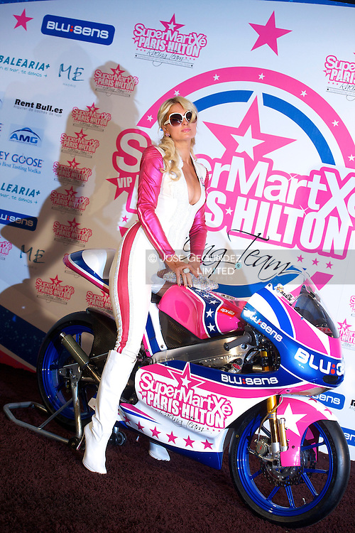 Paris Hilton Presents 'SUPERMARTXE VIP Team by Paris Hilton' at ME Hotel on December 18, 2010 in Madrid, Spain