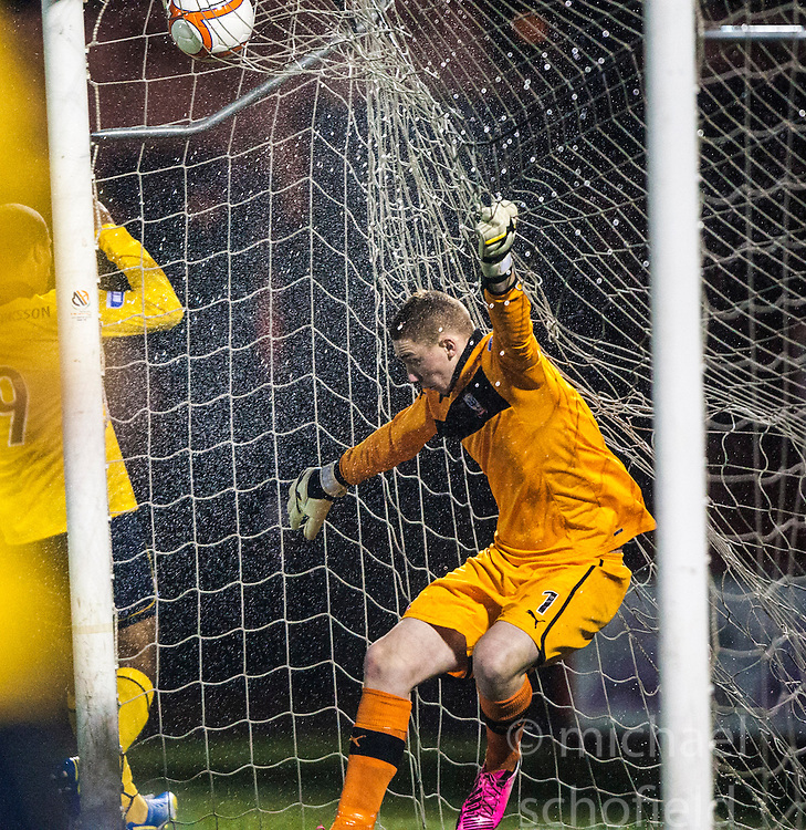 Airdrie United's keeper Andrew Duncan..Airdrie United 1 v 4 Falkirk, 22/12/2012..©Michael Schofield.