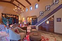Modern interior design of living room in luxury mansion