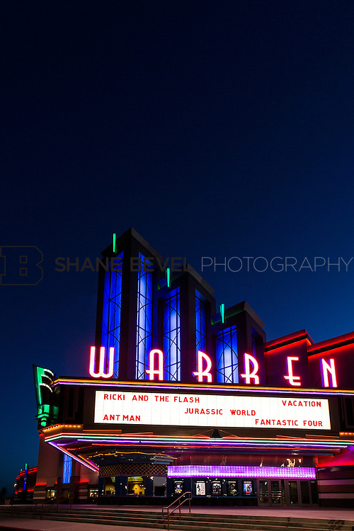 8/10/15 8:41:30 PM --  Exterior photos of the Warren Theatre in Broken Arrow, Oklahoma. <br /> <br /> Photo by Shane Bevel