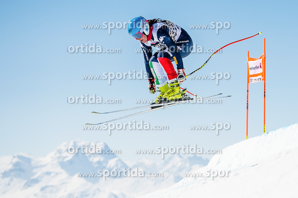 14.03.2016, Engiadina, St. Moritz, SUI, FIS Weltcup Ski Alpin, St. Moritz, Abfahrt, Damen, 1. Training, im Bild Daniela Marighetti (ITA) // competes in her 1st training run for the ladie's Downhill of st. Moritz Ski Alpine World Cup finals at the Engiadina in St. Moritz, Switzerland on 2016/03/14. EXPA Pictures &copy; 2016, PhotoCredit: EXPA/ Freshfocus/ Manuel Lopez<br /> <br /> *****ATTENTION - for AUT, SLO, CRO, SRB, BIH, MAZ only*****