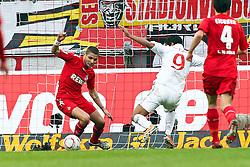 13.02.2010,  Rhein Energie Stadion, Koeln, GER, 1.FBL, FC Koeln vs Mainz 05, 22. Spieltag, im Bild: Sami Allagui (Mainz #9) (re.) schiesst gegen +fc3 zum 1:1 Ausgleich  EXPA Pictures © 2011, PhotoCredit: EXPA/ nph/  Mueller       ****** out of GER / SWE / CRO  / BEL ******