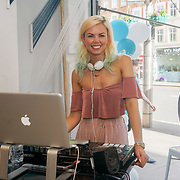 Fabienne Hebrard DJ at the Threads & Co Beauty launches permanent retail concept store everything from coffee to beauty to retail therapy on 24th May 2017. by See Li