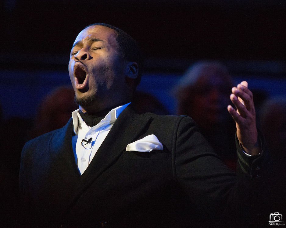 "Nathan Myers performs ""Rock'n Jerusalem"" during the 30th Annual Black Music & the Civil Rights Movement Concert at the Morton H. Meyerson Symphony Center in Dallas, Texas, on January 20, 2013.  (Stan Olszewski/The Dallas Morning News)"