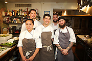 NEW YORK, NY - June 22, 2017: Chef Jon Cichon and his team from La Croix at The Rittenhouse in Philadelphia present a vegetable-forward dinner at the James Beard House in Greenwich Village. <br /> <br /> Credit: Clay Williams for the James Beard Foundation.<br /> <br /> &copy; Clay Williams / http://claywilliamsphoto.com