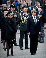 Amsterdam  ,04-05-2017 <br /> <br /> King Willem-Alexander and Queen Maxima At Death Remembrance at Dam Square.<br /> <br /> <br /> COPYRIGHT: ROYALPORTRAITS EUROPE/ BERNARD RUEBSAMEN