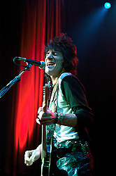 UK ENGLAND LONDON 11DEC01 - Rolling Stone Ronnie Wood in concert at the Shepherd's Bush empire, presenting his new solo album, 'Not for Beginners'...jre/Photo by Jiri Rezac..© Jiri Rezac 2001..Contact: +44 (0) 7050 110 417.Mobile:  +44 (0) 7801 337 683.Office:  +44 (0) 20 8968 9635..Email:   jiri@jirirezac.com.Web:     www.jirirezac.com
