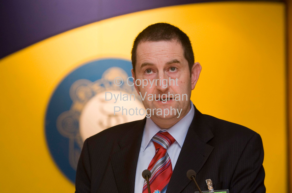 29/4/2008.Pictured at the Garda Representative Association 30th annual delegate conference at the Mount Wolseley Hotel in Tullow county Carlow was John Egan,  President of the GRA..Picture Dylan Vaughan