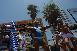 June 9, 2017 - Tel Aviv, Israel - Some 200,000 people took part in Tel Aviv's Gay Pride Paradeon June 9th, of which approximately 30,000 from abroad. It was the city's 19th pride parade and according to Tel Aviv's municipality, the largest in the Middle East and Asia. (Credit Image: © Laura Chiesa/Pacific Press via ZUMA Wire)