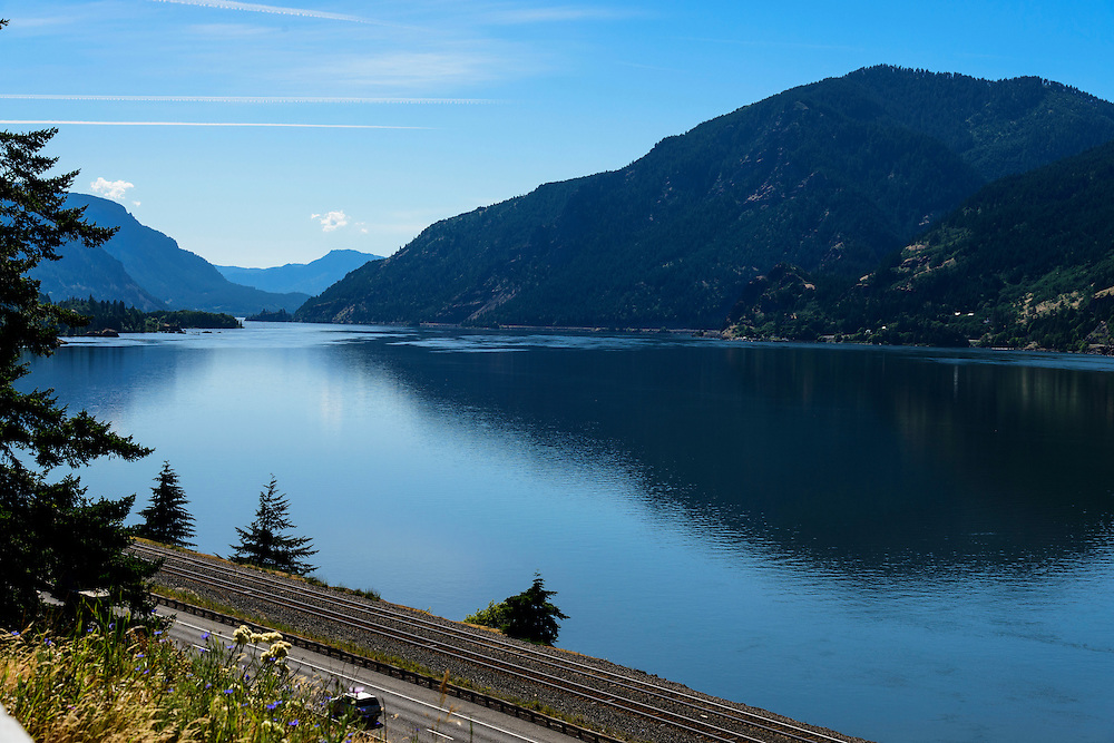 As seen from Mitchell Point, Oregon.